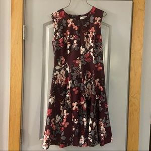 Calvin Klein Pleated A Line Dress Sz 6